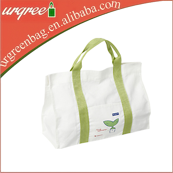 Reusable Large Cotton Canvas Tote Nappy Bag For Baby