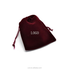 cheap custom suede jewelry pouch/velvet jewelry bag with logo