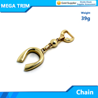 bag accessories chain market in Guangzhou light gold color zinc alloy chain