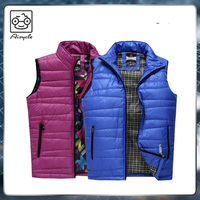 Stylish sleeveless shiny down jacket vest for ladies men