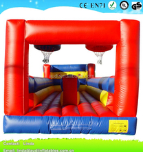 New Inflatable Basketball Hoop game with Bungee run