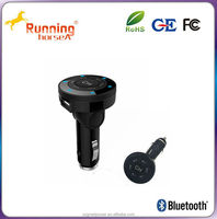 wireless bluetooth fm transmitter USB cellphone car charger from manufacturer