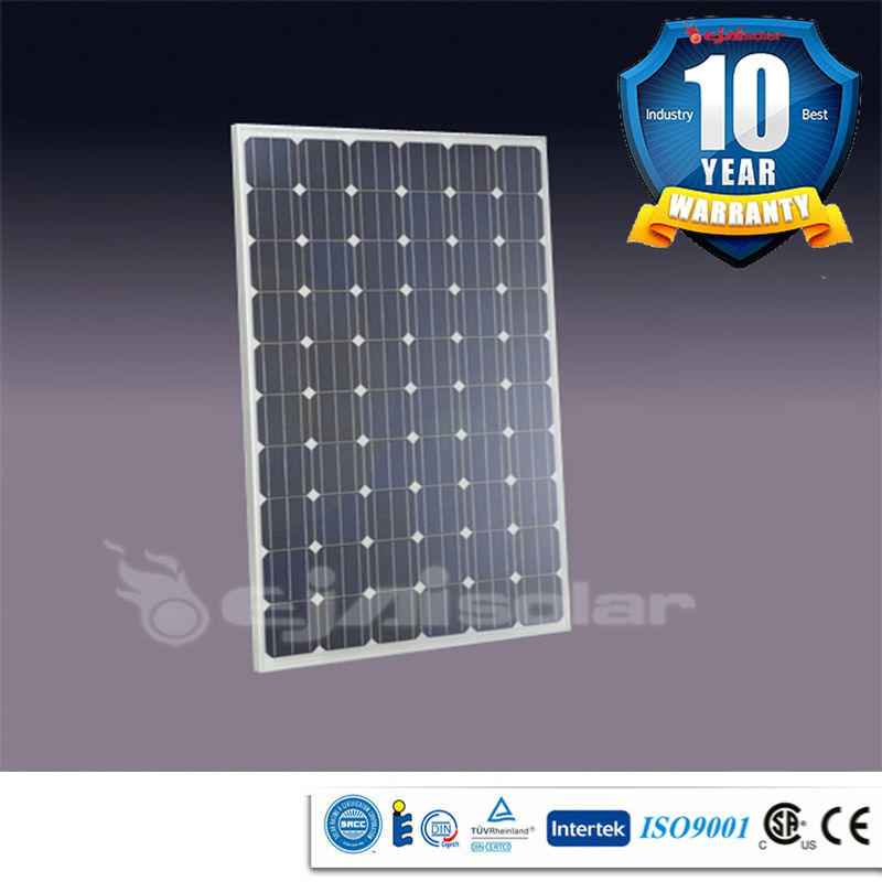 250w monocrystalline solar panel solaire solar generator, ISO9001,CE,TUV approved