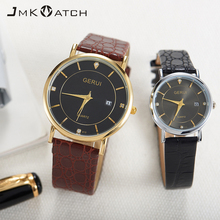 New leather strap men and women luxury wrist watch