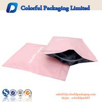 Three side sealed bag mini resealable aluminum foil ziplock plastic bags