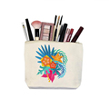 Heat transfer printing customised canvas make up bag