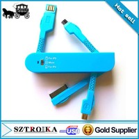 3 in 1 sync data micro usb cable,usb 2.0 cable,multi-function usb charger cable