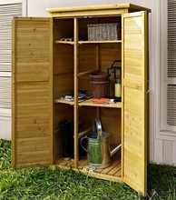 Outdoor natrual wood tool house, tool shed, garden shed