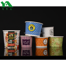 Factory direct supply custom printed disposable ice cream paper cups with logo