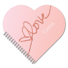 Wholesale Personalized Heart-Shaped Spiral Notebook/Journal,Durable Laminated Cover, and Wire-O Notebook Printing