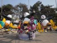 Park equipment amusement panda rides