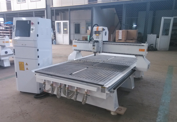 China Servo 4'x8' CNC Router machine with Heavy bed structure