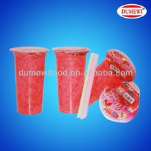 Strawberry Pulp Fruit Cup Jelly