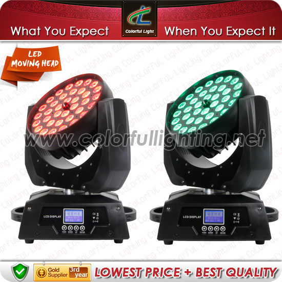 36 x 10w 4 in 1 Rgbw Led Zoom Moving Head Wash Stage Light For Bar Music