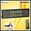 Pitch 7.62 pixel 16 X 64 LED moving message sign LED programmable sign LED electrical panels