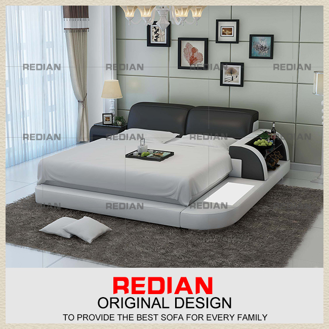 2016 Latest Bedroom Design King size /Queen size PU Leather Double Bed
