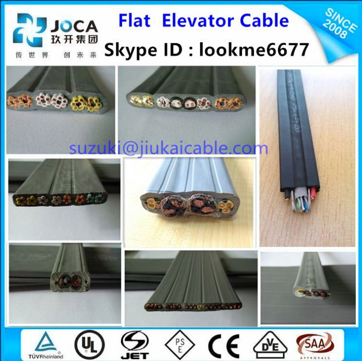 TVVBP TVVBPG Lift Cable, Lift Flat Travelling Cable for Elevator Control System