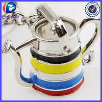 High Quality New Arrival Colorful Teapot Keyring