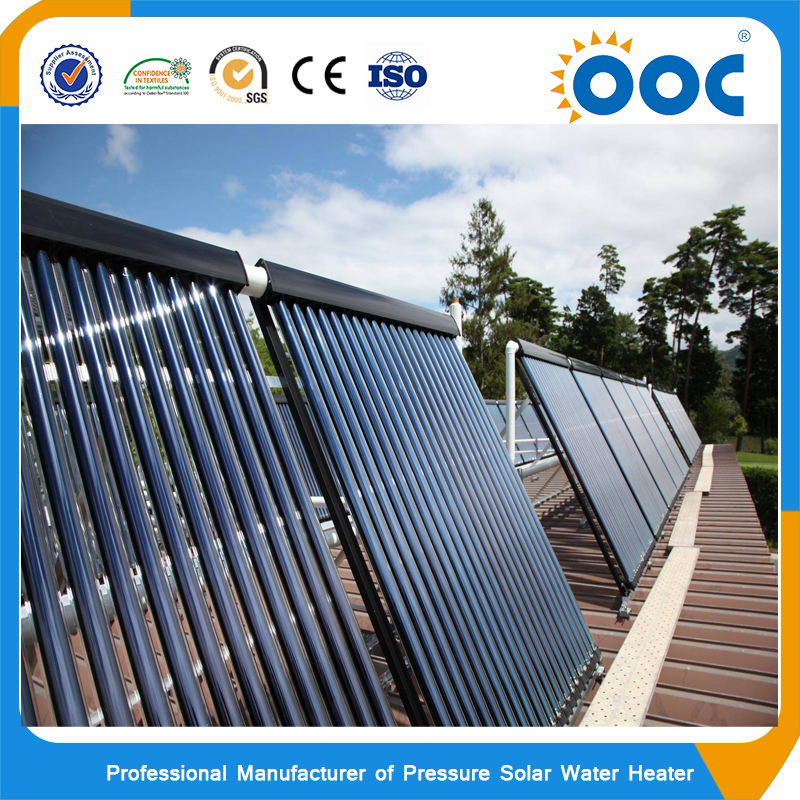 10 tubes heat pipe solar collector with 45 degree Aluminum frame