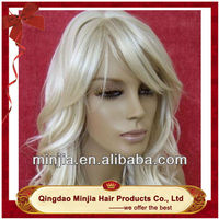 New fashion snow white synthetic hair wigs