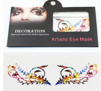 synthetic hair fiber eyelash Popular Hallowmas Paper Eye Lashes, Paper False Eyelashes