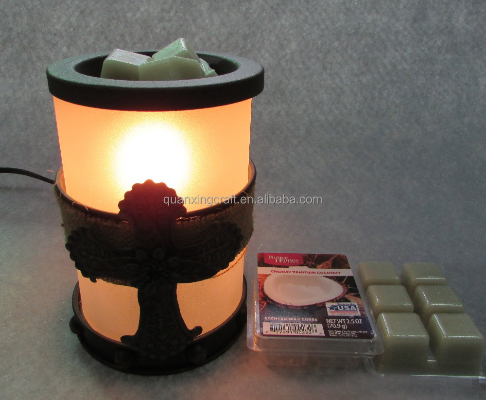 Metal Cross Electrial Candle Warmer Aromal oil burner