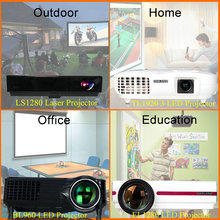 Hotsale LED 50000 hours lamp life LCD/DLP easy carry home theater laser projector outdoor