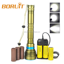 2018 Boruit High Power 5000 Lumen 7 Cree XM-L2 Underwater Diving Torch Rechargeable Led Flashlight