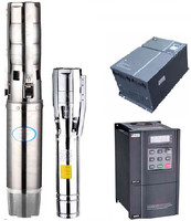 High speed controller stator cable rotor well inverter & battery AC/ DC submersible stainless steel water pump