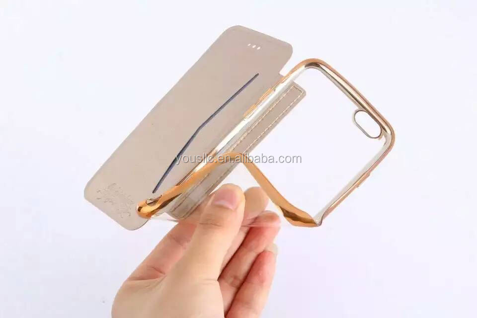 SLIM PU Leather Flip Case Wallet Cover For iPhone 5 5SE 6S & 6 PLUS