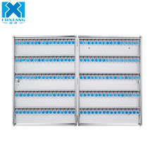 Custom wholesale 160 Keys Potable Metal Aluminum Key Safe Storage Box with Lock Cabinet Secure