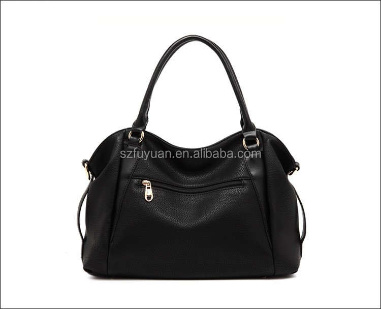 Custom pu leather fashion handbag,lady leather handbag wholesale