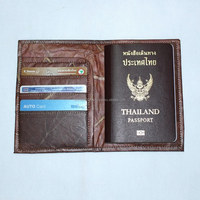 ECO PASSPORT HOLDER PASSPORT CASE BILLFOLD TRAVELER WALLET DIY UNIQUE TEAK LEAF DESIGN SOUVENIR CHIANGMAI HANDMADE