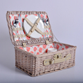 Two stainless steel knife and two stainless steel spoons set willow picnic basket classic style