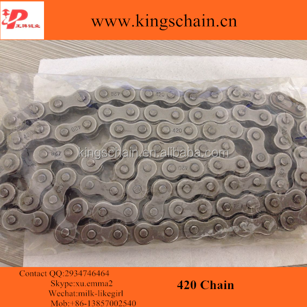 Wholesale natural color 4 riveted 420 motorcycle wheel chain in Pakistan