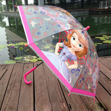 Top Quality children clear dome umbrella transparent bubble carton POE umbrella