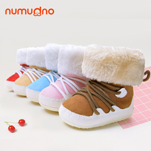 Hot sales winter high heel high cut middle heel middle cut imitation fur baby rubber boots baby shoes