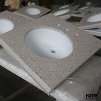 solid surface banjo bathroom sink top