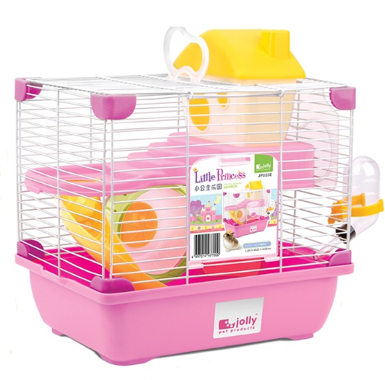 High Quality Pink Lovely Double Layer Carrying Indoor Hamster Cage
