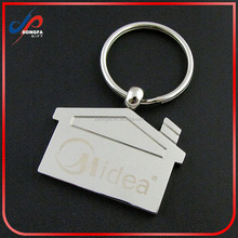 Promotion Gifts Blank House Shaped Metal Keychain House Key Chain
