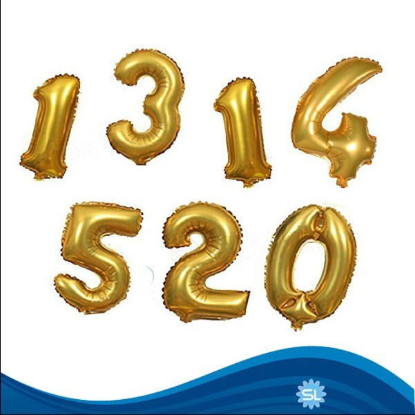 Wholesale Number shaped foil helium balloon