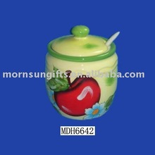 round ceramic kitchen canister