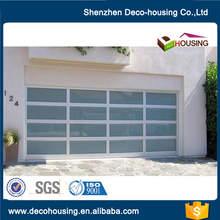 New arrival heat and sound insulation waterproof glass garage door prices with fly screen