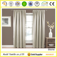 polyester fabric rod pocket curtain design top curtain supplier