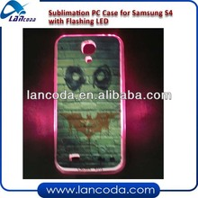 sublimation case for Samsung S4 with Flashing LED