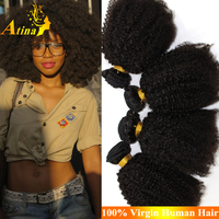 New Products 100 Remy Human Hair Extension Unprocessed Virgin Brazilian Hair Bundles Afro Kinky Curly Weave For Black Women