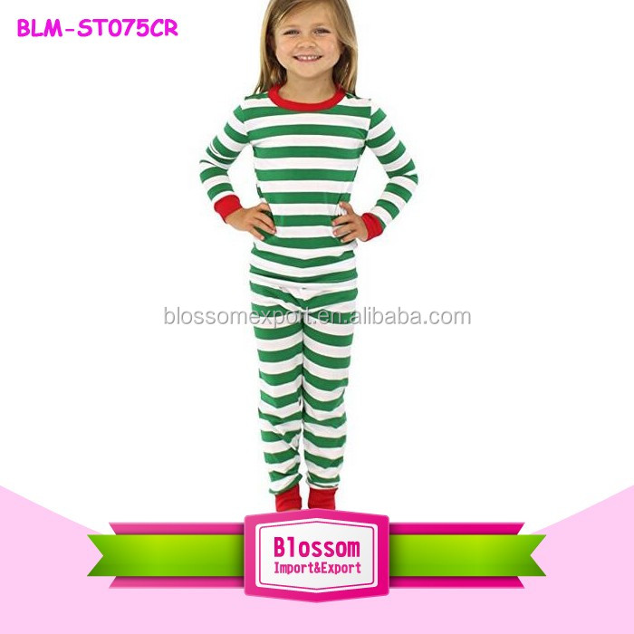 Green and White Travers Cotton Matching Pajamas Family Christmas Pajamas