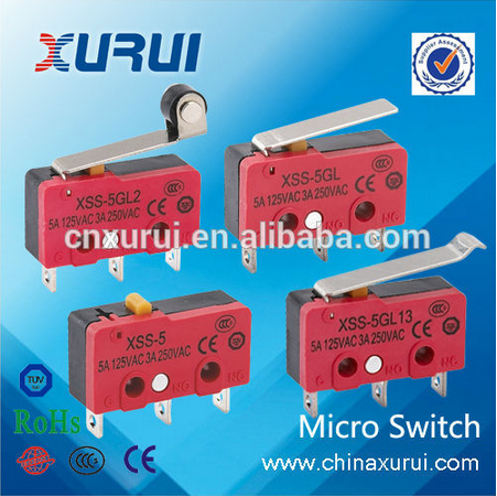 5a/125v 3a/250v Factory Supply Omron Micro Switch Xss-5gl14