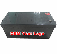 Manufacturer battery for solar system 12v 400ah battery with 2pcs 200ah battery in parallel