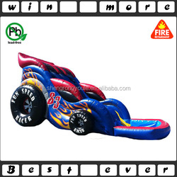 hot sale fun speed racer car wet and dry slide,big water slides for sale commercial